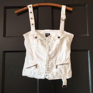 Vintage Dolce & Gabbana white denim corset top